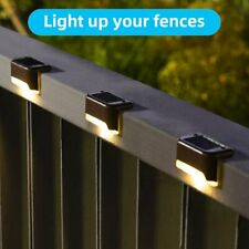 4 PACK LED Solar Powered Light Outdoor Garden Security Wall Fence Gutter Lights
