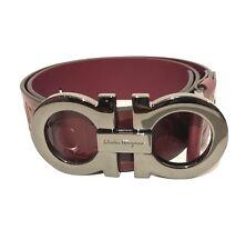 Y-0101150 New Salvatore Ferragamo Giant Gancini Buckle Belt Size 34 Fits 32
