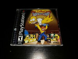 The Simpsons Wrestling Sony PlayStation Manual and Case Only