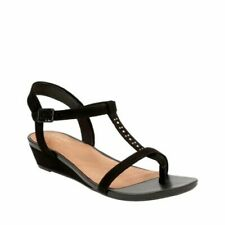 aef3e3e5a92 Clarks Black Suede ladies wedged sandals 5.5 39