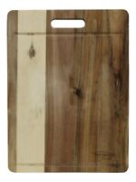 Large Acacia Wood Wooden Chopping Board With Juice Grooves 40 x 30cm Rectangle