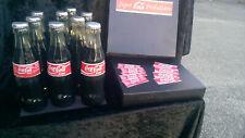 Rare Collector apparition de 9 bouteilles de coca cola en verre+boîte d'origine