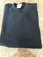 Men's Discus Set In Sleeve Crew Sweat Shirts In Black Size XL 50/50 Blend (31)