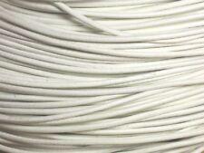 5m - Cordon Cuir Véritable Blanc 2mm   4558550037381