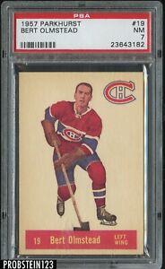 1957 Parkhurst Hockey #19 Bert Olmstead Montreal Canadiens PSA 7 NM