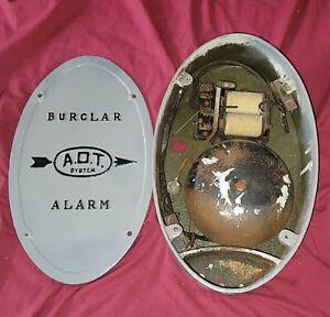 Vintage Burglar Alarm complete box w/ mechanism 1072.. ADT System Case Iron RARE