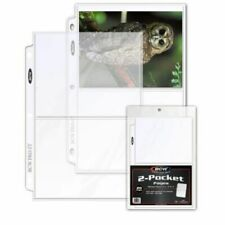 New 40 PK - 2 Pocket Pages BCW PRO 5x7 Photo Postcard Page Sheet Protector