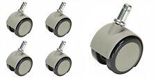 Caster, Soft Wheel For Hard Floors Gray Set of 5 DCI