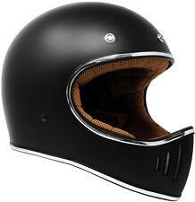 2020 GDM Rebel Retro Vintage Motorcycle Helmet DOT Matte Black Scrambler