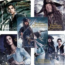Pirates of the Caribbean Stickers x 5 - Dead Men Tell No Tales - Johnny Depp