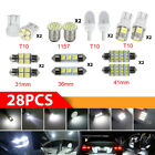 28x Car Interior LED Light For Dome Map License Plate Lamp Bulbs Kit Accessories Alfa Romeo 156