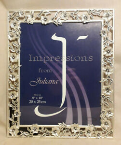 """Impressions by Juliana 8"""" x 10"""" Picture Frame Flower Design"""