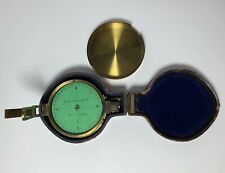Antique PRISMATIC COMPASS SPENCER BROWNING Co 19th Century English ORIGINAL CASE