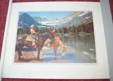 1960 Northwest Airlines Print Glacier National Park Montana Salamander Glacier