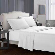 Full Size Bed Sheet Set Brushed Microfiber Sheets Bedding 4 Piece w/ Pillow Case