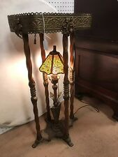 Art Deco Marble Top Stand w/center lamp- Oscar Bach ???