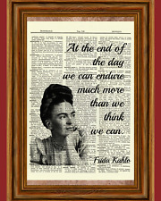 Frida Kahlo Vintage Dictionary Art Print Book Picture Poster Inspirational Quote