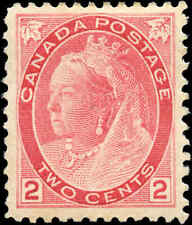 Canada Mint H F-VF Scott #77 2c 1899 Queen Victoria Numeral Stamp