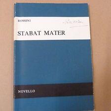 vocal score ROSSINI Stabat Mater, Novello