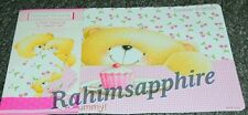 FOREVER FRIENDS 4 piece PLACEMAT & COASTER SET TEDDY HUGGING New Uk seller
