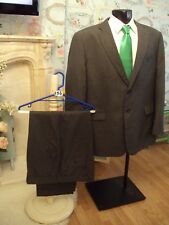 Suit chest 48R waist 42R By Burton in grey two button jacket L29.5(156)