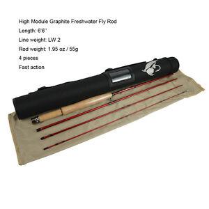 Aventik Fly Fishing Rod High Module Graphite 6'6'' LW2 Ultra Light Fly Rod