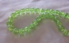 30 Green 10mm Crackle Glass Beads #cr3127 (Combine Postage Before Paying)