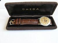 "OMEGA""COSMIC""-TRIPLE DATE MOONFACE-ACCIAIO-1946-REF.2471/1-CAL.27 DL PC-BOX-RARO"