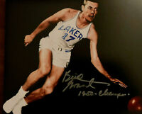 BUD GRANT MINNEAPOLIS LAKERS NBA 1950 CHAMPS SIGNED 8X10 #3  (RARE) W/COA