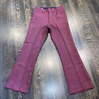 Vtg 60s 70s FARAH Pants Mens 29 29 Flare Leg Disco Polyester Bell Bottom Slacks