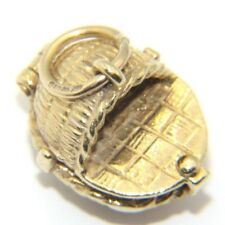 Women's Ladies 9ct 9carat Yellow Gold Moses Basket Charm - 4.6 grams