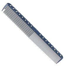 Y S Park Comb YS - 336 BLUE Hairdressing Cutting Comb Spine Back