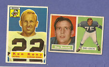 you pick any, lot of 10 cards from 1956 1957 1958 1959 Topps Football set