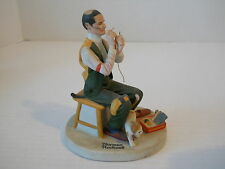 The 12 Norman Rockwell Danbury Mint Porcelain Figurine Man Threading The Needle