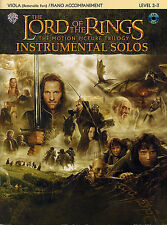 Lord Of The Rings Solos Viola Violin Cello Piano Music Book & Playalong CD