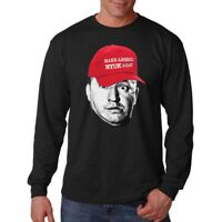 Three Stooges Curly Make America Nyuk Again Comedy Funny Long Sleeve T-Shirt