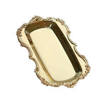 Hotel Serving Tray Metal Plate for Towel, Fruit, Cake, Pastry, Snack Gold