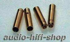 20 BOCCOLE per 4mm presa A BANANA DORATO NUOVO