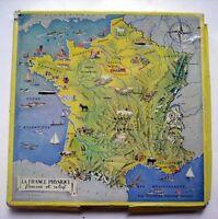 Vintage Puzzle Bois - JEUX NATHAN - LA FRANCE PHYSIQUE - Pierrette BAUER