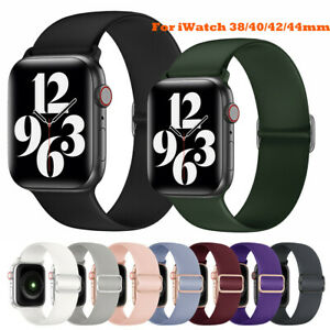 For iWatch Band Series 6 5 4 3 Silicone Sport Loop Elastic Straps 38/42/40/44mm