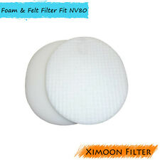 Foam & Felt Vacuum Filter kit for Shark Navigator NV70 NV80 NV90 UV420, # XFF80