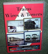 "20192 TRAIN VIDEO DVD ""TRAINS WIRES & TOWERS"" VIA/GO/AMTRAK/CN"