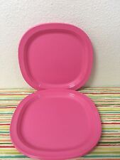 """Tupperware Luncheon Plates Set of 4 Pink 7 3/4"""" New"""
