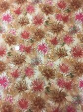100% Cotton Quilt Fabric Dahlia Dreams Malkowski Paintbrush Studio 120-194 Brown