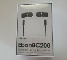 BASN Wood Earphones with HD Clear Crisp Sound Noise Isolation Deep Bass Earphone