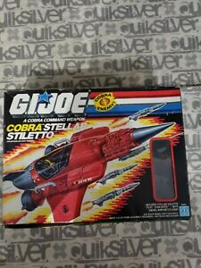 GI JOE 1987 Cobra Stellar Stiletto Vehicle in original box