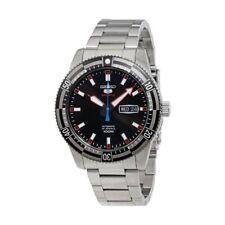 Seiko 5 Armbanduhren aus Silber Sports Edelstahl