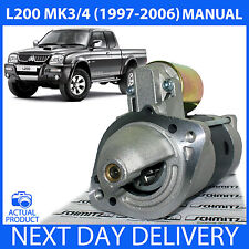 FITS MITSUBISHI L200 1996-2006 K74 2.5 TD DIESEL MANUAL ONLY NEW STARTER MOTOR