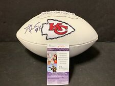 Travis Kelce Kansas City Chiefs Autographed Signed Football JSA COA