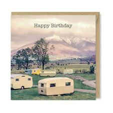 Caravan Park 1960 - Vintage Retro Birthday Card - 1960's Lakes Lake District